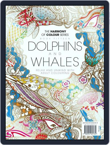 Colouring Book: Dolphins and Whales June 1st, 2017 Digital Back Issue Cover