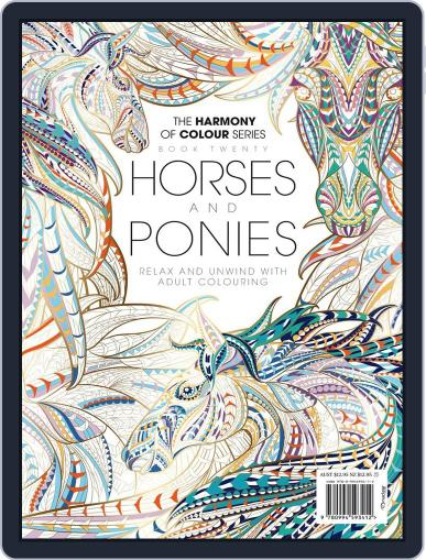 Colouring Book: Horses and Ponies June 1st, 2017 Digital Back Issue Cover