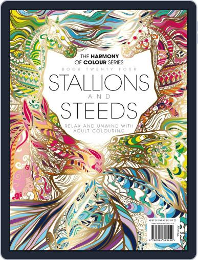 Colouring Book: Stallions and Steeds June 1st, 2017 Digital Back Issue Cover