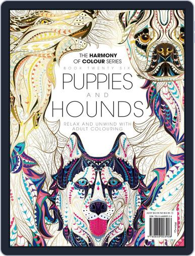 Colouring Book: Puppies and Hounds June 1st, 2017 Digital Back Issue Cover