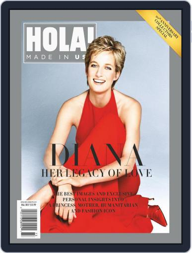HOLA! USA: Diana 20th Anniversary October 9th, 2017 Digital Back Issue Cover