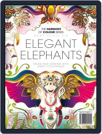 Colouring Book: Elegant Elephants November 10th, 2017 Digital Back Issue Cover