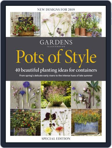 Gardens Illustrated : Pots of Style Digital Back Issue Cover