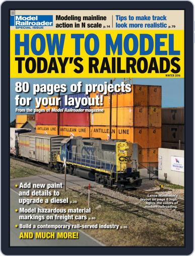 How to Model Today's Railroads Digital Back Issue Cover