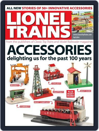 Lionel Trains: Accessories August 8th, 2014 Digital Back Issue Cover