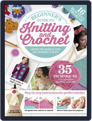 Beginner's Guide to Knitting and Crochet Digital Back Issue Cover