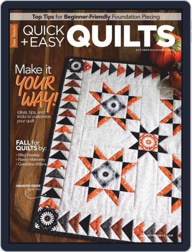 QUICK QUILTS Magazine (Digital) October 1st, 2020 Issue Cover