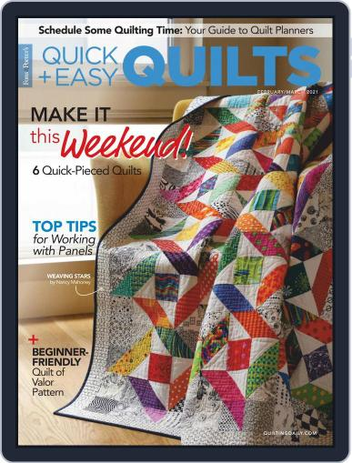 QUICK QUILTS Magazine (Digital) February 1st, 2021 Issue Cover