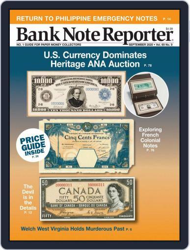 Banknote Reporter Magazine (Digital) September 1st, 2020 Issue Cover