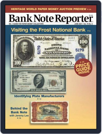 Banknote Reporter Magazine (Digital) June 1st, 2021 Issue Cover