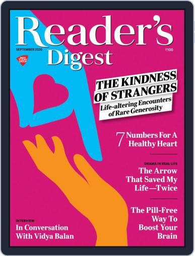 Reader's Digest India Magazine (Digital) September 1st, 2020 Issue Cover