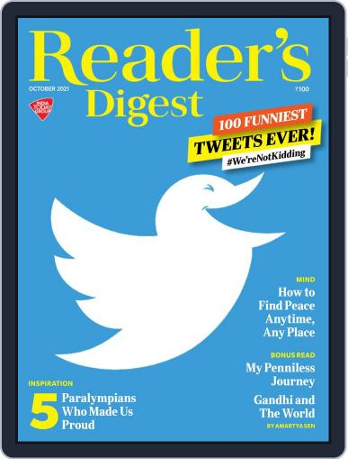 Reader's Digest India Magazine (Digital) October 1st, 2021 Issue Cover