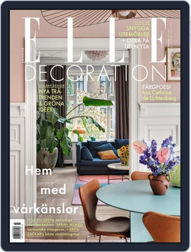 ELLE Decoration Sweden Magazine (Digital) April 1st, 2021 Issue Cover