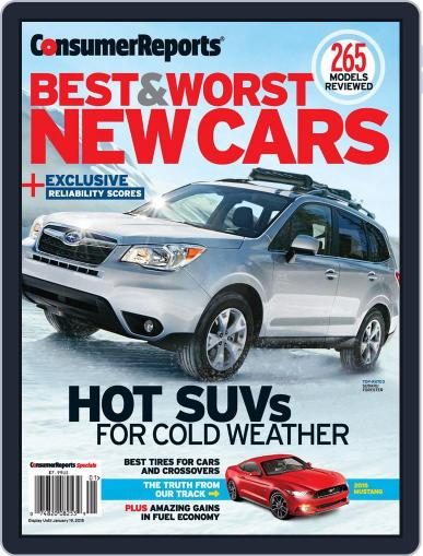 Consumer Reports Best & Worst New Cars (Digital) November 11th, 2014 Issue Cover