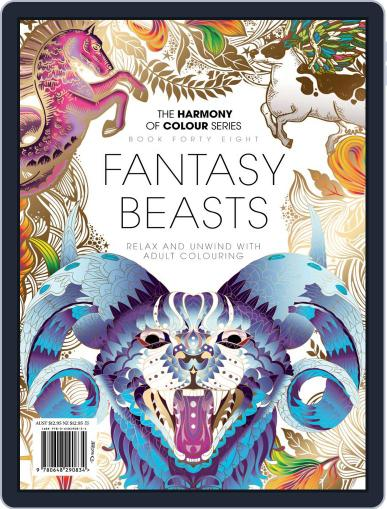 Colouring Book: Fantasy_Beasts November 21st, 2018 Digital Back Issue Cover