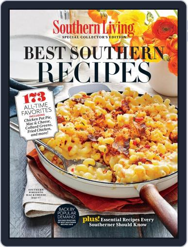 Southern Living Best Southern Recipes November 11th, 2019 Digital Back Issue Cover