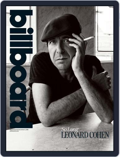 Billboard (Digital) November 26th, 2016 Issue Cover