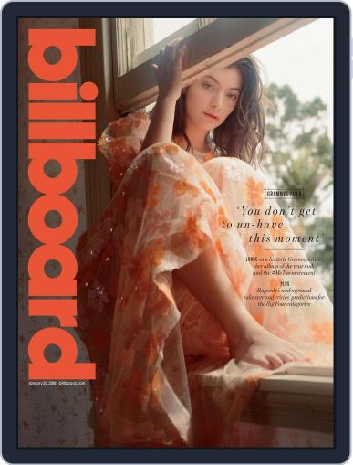 Billboard (Digital) January 20th, 2018 Issue Cover