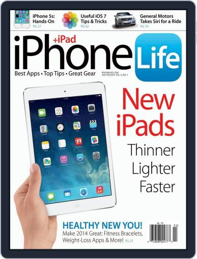 Iphone Life January 1st, 2014 Digital Back Issue Cover