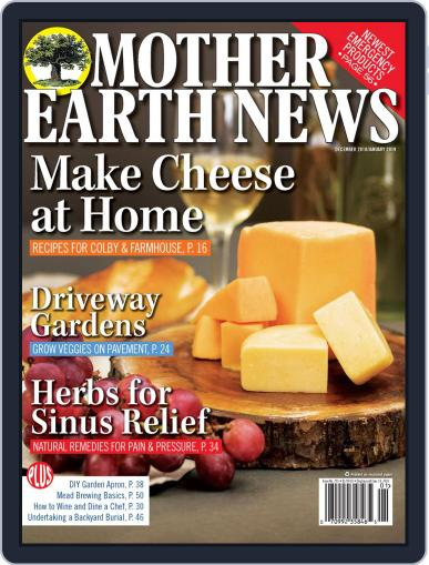 MOTHER EARTH NEWS December 1st, 2018 Digital Back Issue Cover