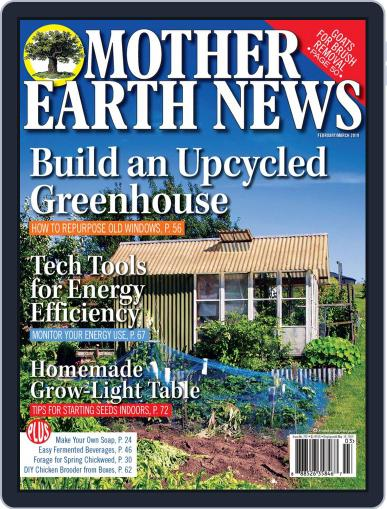 MOTHER EARTH NEWS February 1st, 2019 Digital Back Issue Cover
