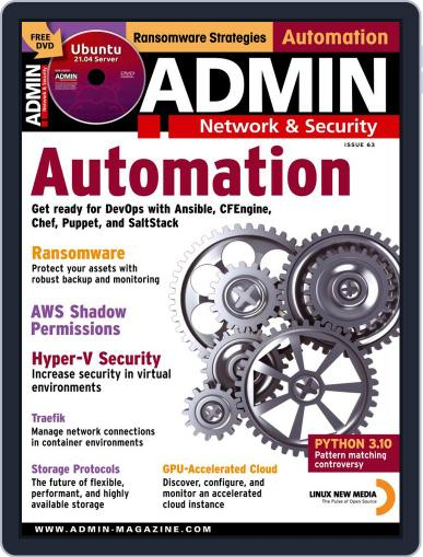 ADMIN Network & Security Magazine (Digital) May 1st, 2021 Issue Cover