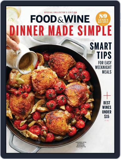 Food & Wine Dinner Made Simple February 13th, 2020 Digital Back Issue Cover