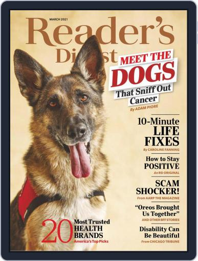 Reader's Digest Digital Magazine March 1st, 2021 Issue Cover