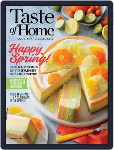 Taste Of Home Digital Magazine April 1st, 2021 Issue Cover