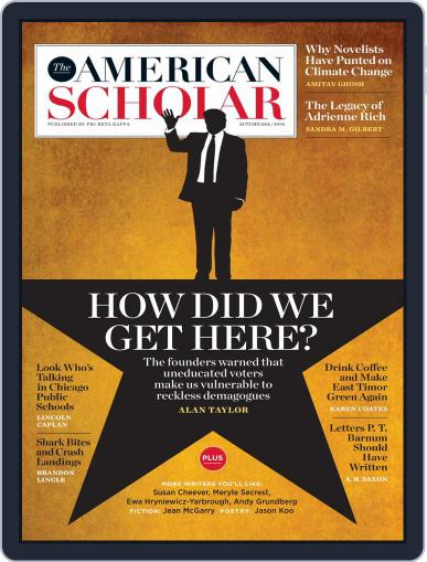 The American Scholar September 1st, 2016 Digital Back Issue Cover