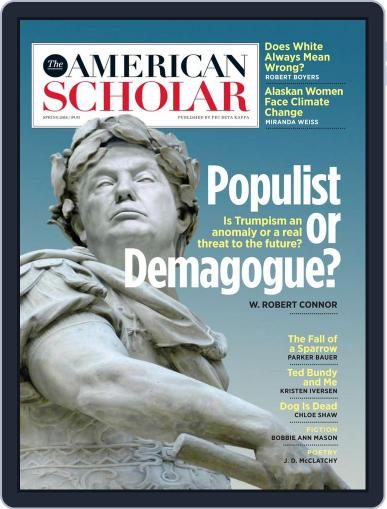 The American Scholar March 1st, 2018 Digital Back Issue Cover
