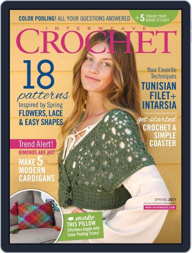 Interweave Crochet February 1st, 2017 Digital Back Issue Cover
