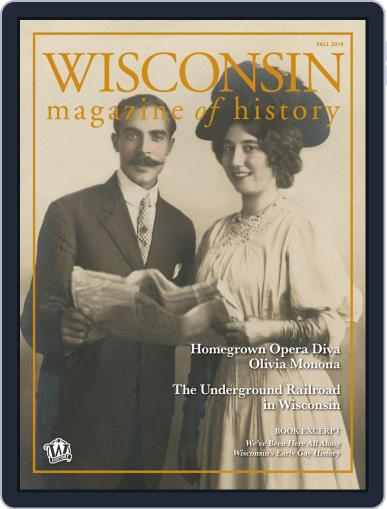 Wisconsin Magazine Of History September 6th, 2019 Digital Back Issue Cover