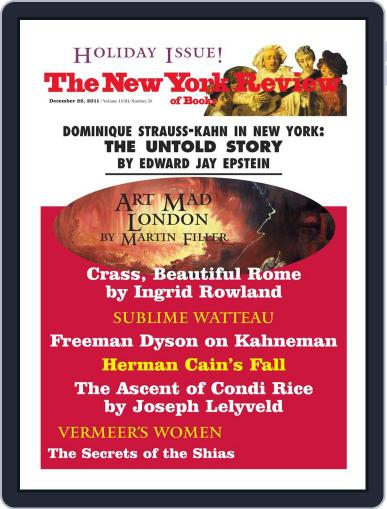 The New York Review of Books December 2nd, 2011 Digital Back Issue Cover