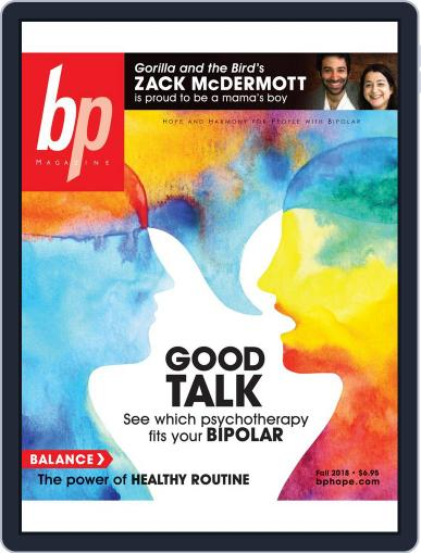 bp Magazine for Bipolar (Digital) September 1st, 2018 Issue Cover