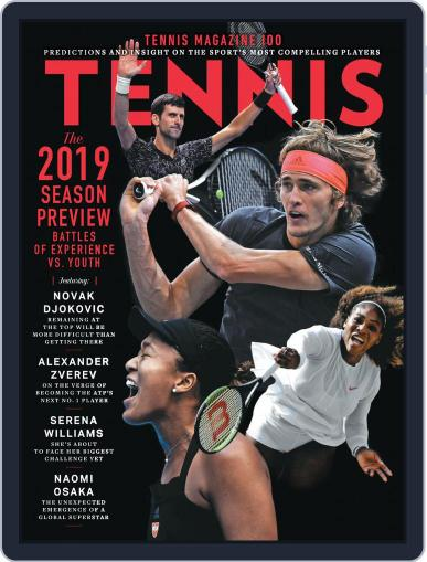 Tennis (digital) January 1st, 2019 Issue Cover