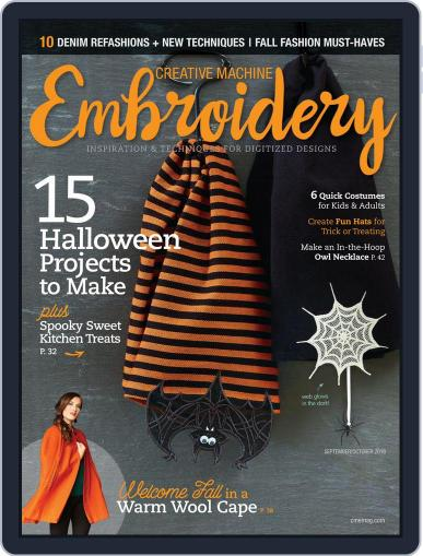 CREATIVE MACHINE EMBROIDERY September 1st, 2018 Digital Back Issue Cover