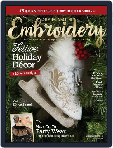 CREATIVE MACHINE EMBROIDERY October 5th, 2018 Digital Back Issue Cover