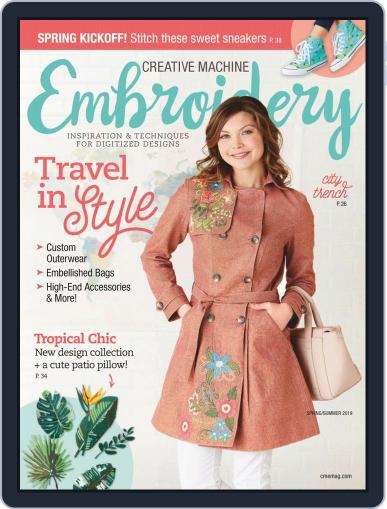 CREATIVE MACHINE EMBROIDERY March 1st, 2019 Digital Back Issue Cover