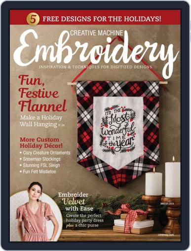CREATIVE MACHINE EMBROIDERY September 1st, 2019 Digital Back Issue Cover
