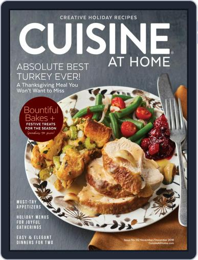 Cuisine at home (Digital) November 1st, 2018 Issue Cover