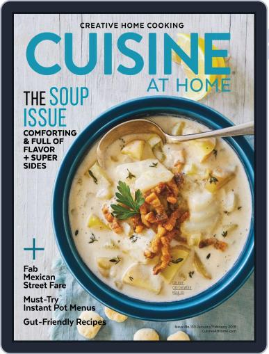 Cuisine at home (Digital) January 1st, 2019 Issue Cover