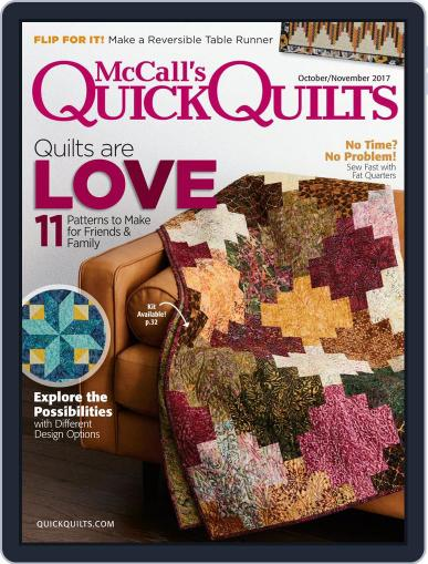 QUICK QUILTS (Digital) October 1st, 2017 Issue Cover
