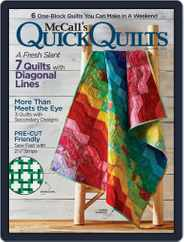 QUICK QUILTS (Digital) Subscription April 1st, 2018 Issue