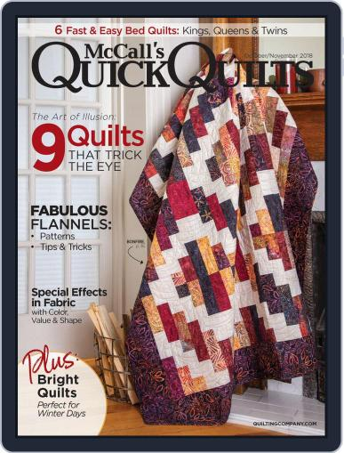 QUICK QUILTS (Digital) October 1st, 2018 Issue Cover