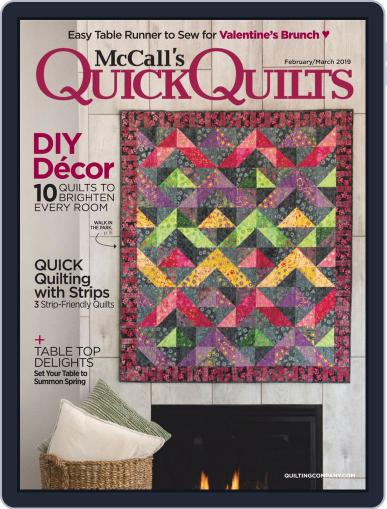 QUICK QUILTS (Digital) February 1st, 2019 Issue Cover
