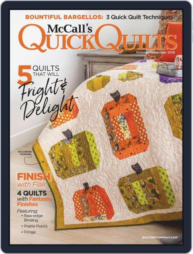 QUICK QUILTS (Digital) October 1st, 2019 Issue Cover