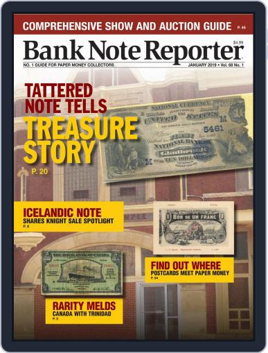 Banknote Reporter January 1st, 2019 Digital Back Issue Cover