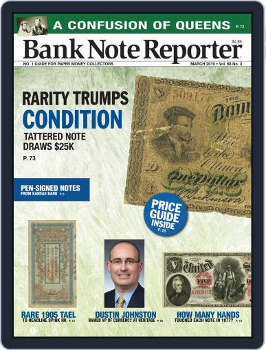 Banknote Reporter March 1st, 2019 Digital Back Issue Cover