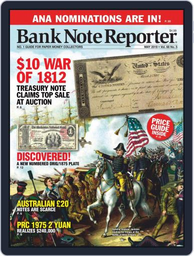 Banknote Reporter May 1st, 2019 Digital Back Issue Cover